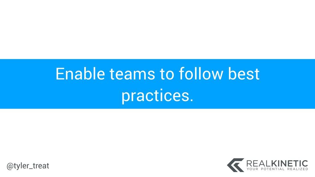 @tyler_treat Enable teams to follow best practi...