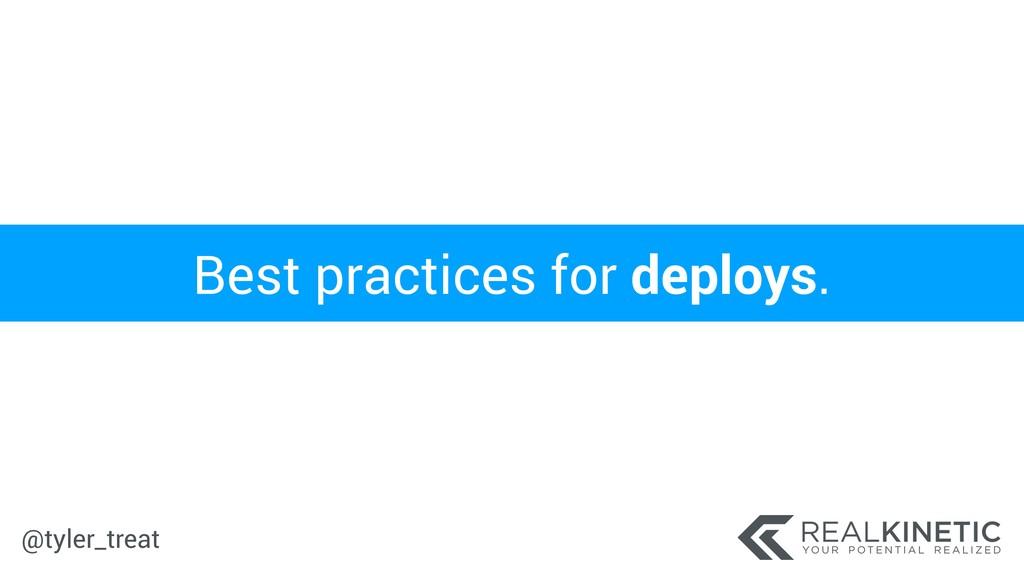 @tyler_treat Best practices for deploys.