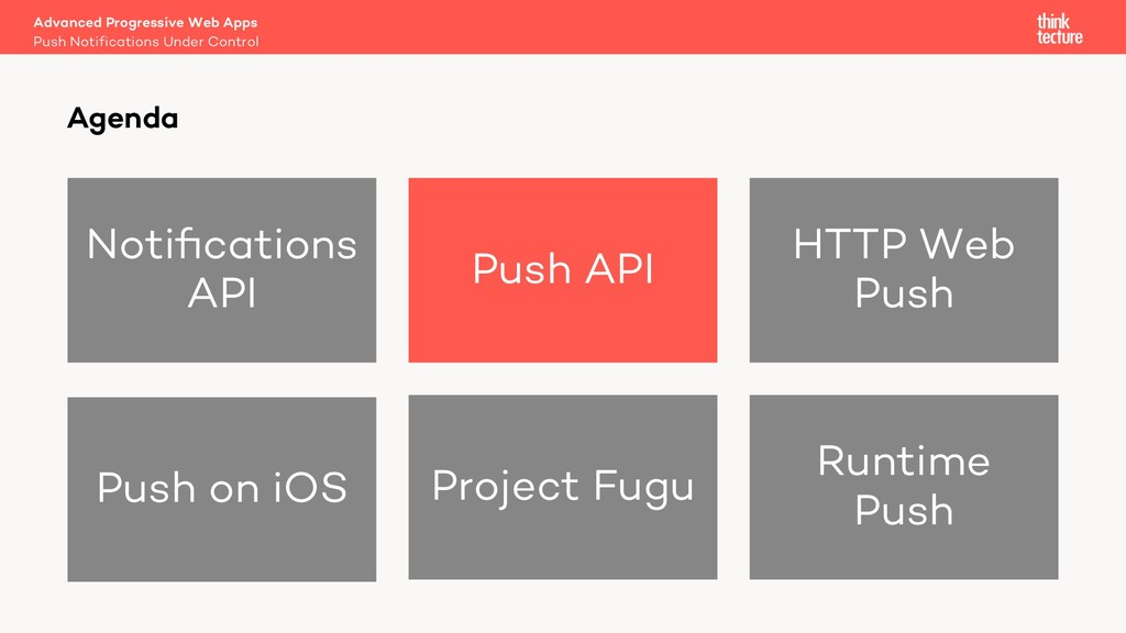 Notifications API Push API HTTP Web Push Push on...