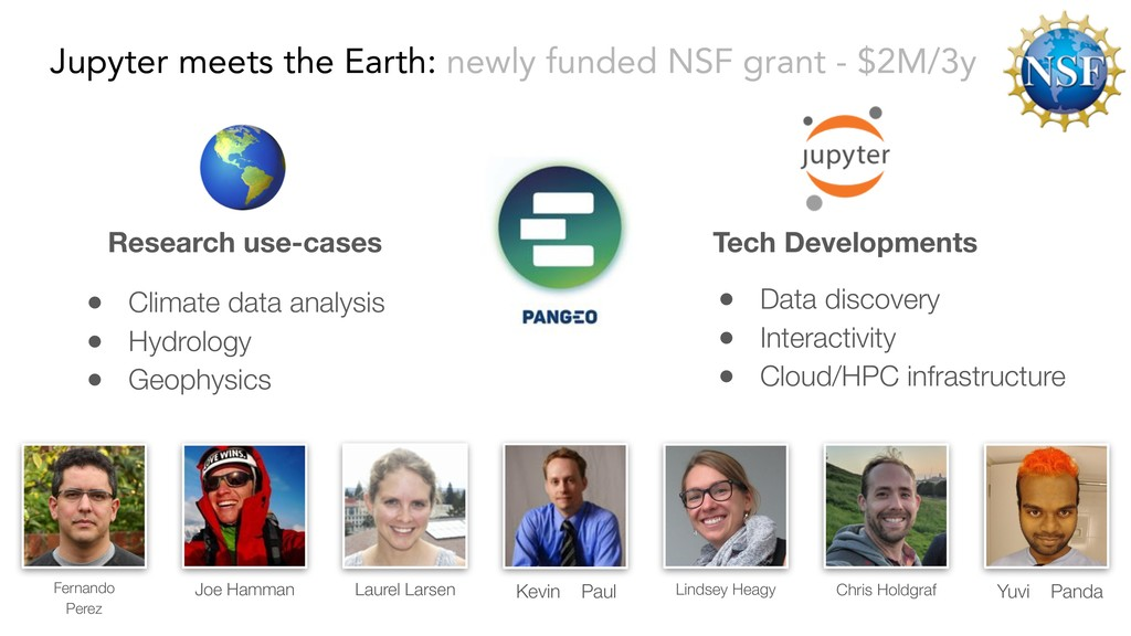 Jupyter meets the Earth: newly funded NSF grant...