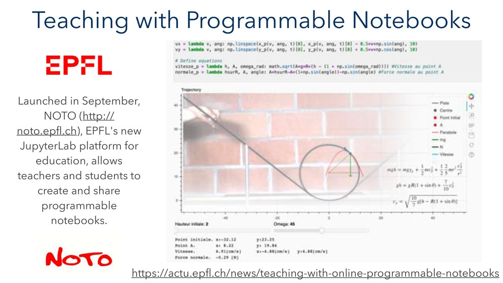Teaching with Programmable Notebooks Launched i...