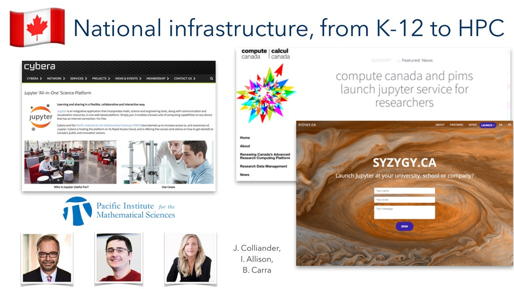 """National infrastructure, from K-12 to HPC """" J. ..."""