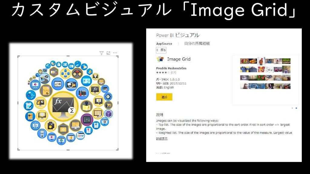 カスタムビジュアル「Image Grid」