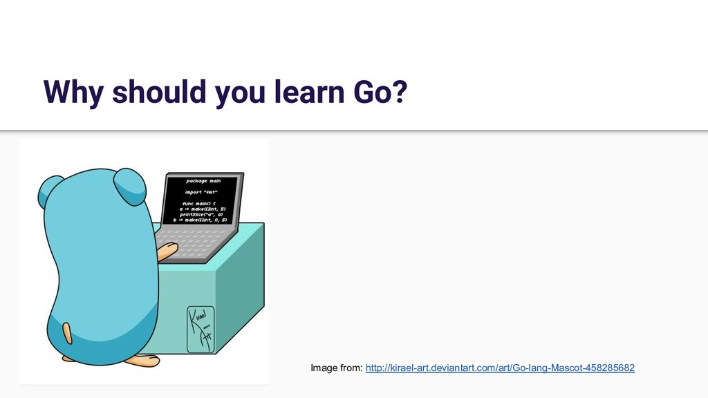 Why should you learn Go? Image from: http://kir...