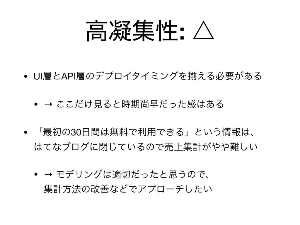 ߴڽूੑ: ˚ • UIͱAPIͷσϓϩΠλΠϛϯάΛἧ͑Δඞཁ͕͋Δ  • → ͚ͩ͜͜...