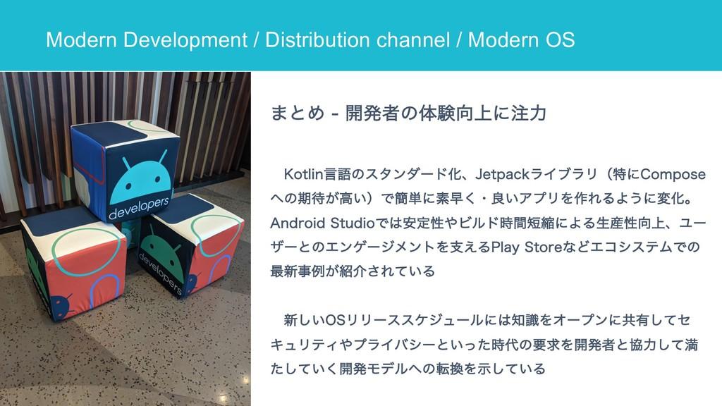 Modern Development / Distribution channel / Mod...