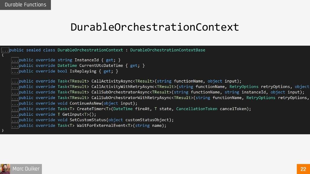 Marc Duiker Durable Functions DurableOrchestrat...