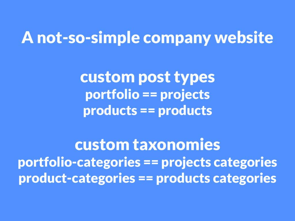 A not-so-simple company website custom post typ...