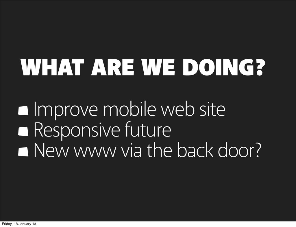 Improve mobile web site Responsive future New w...