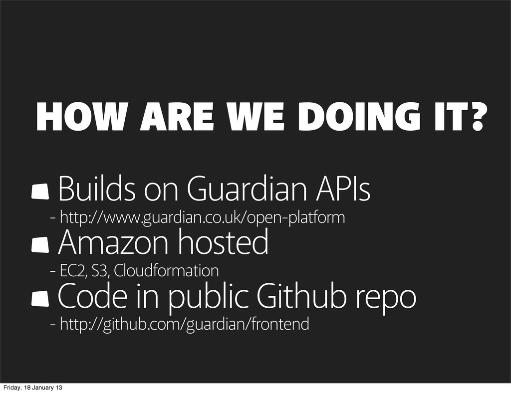 Builds on Guardian APIs - http://www.guardian.c...