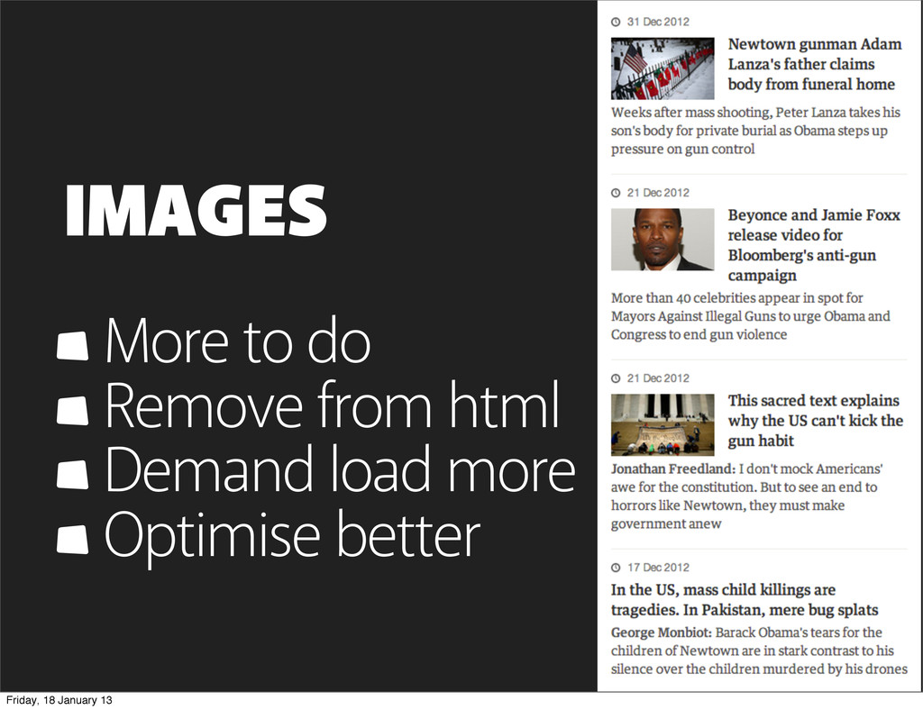 IMAGES More to do Remove from html Demand load ...