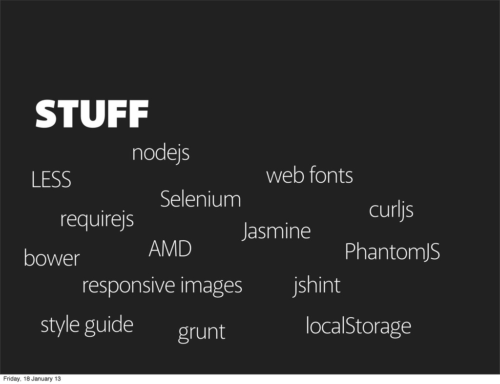 LESS STUFF requirejs nodejs web fonts AMD bower...