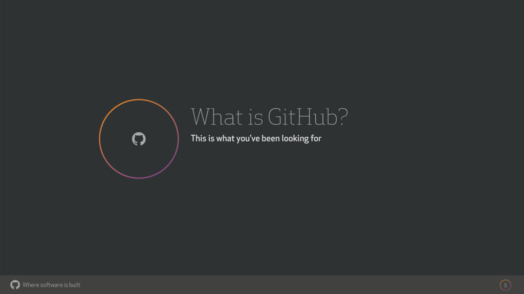 Where software is built What is GitHub? This is...