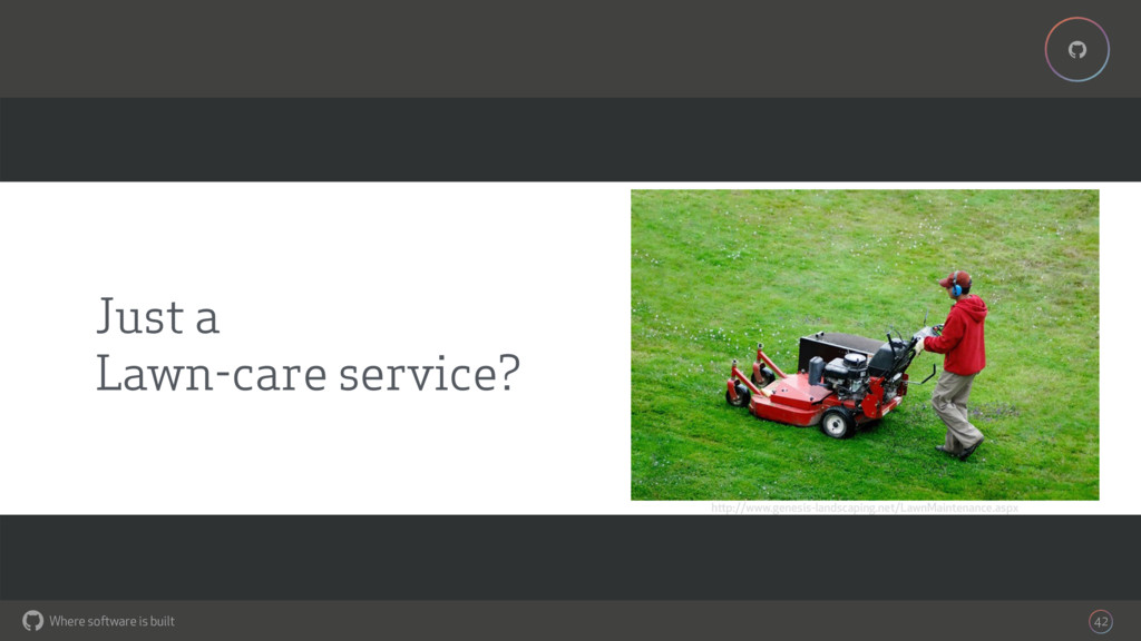 Where software is built % % 42 Just a Lawn-care...