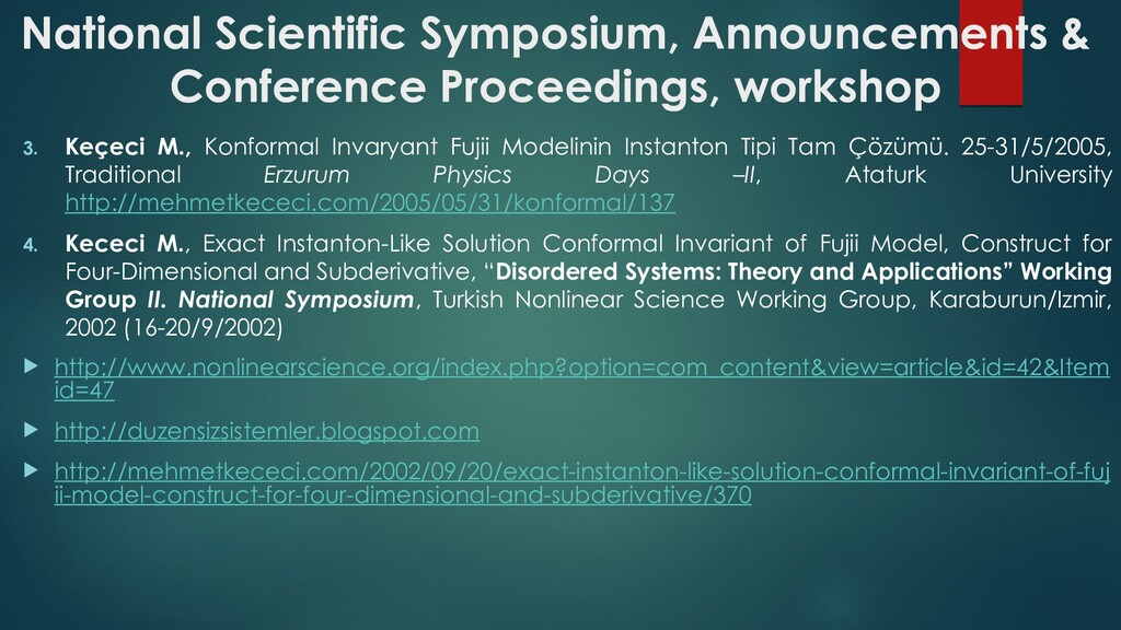 National Scientific Symposium, Announcements & ...