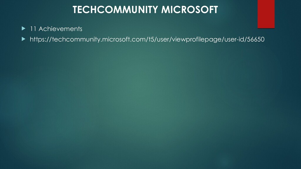  11 Achievements  https://techcommunity.micro...