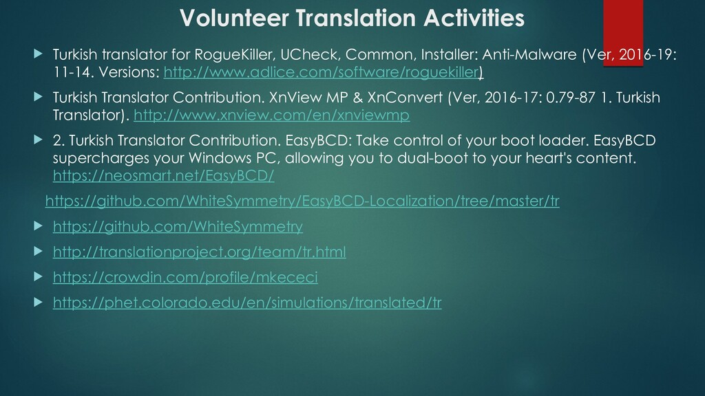 Volunteer Translation Activities  Turkish tran...