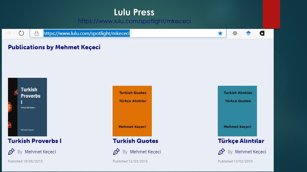 Lulu Press https://www.lulu.com/spotlight/mkece...