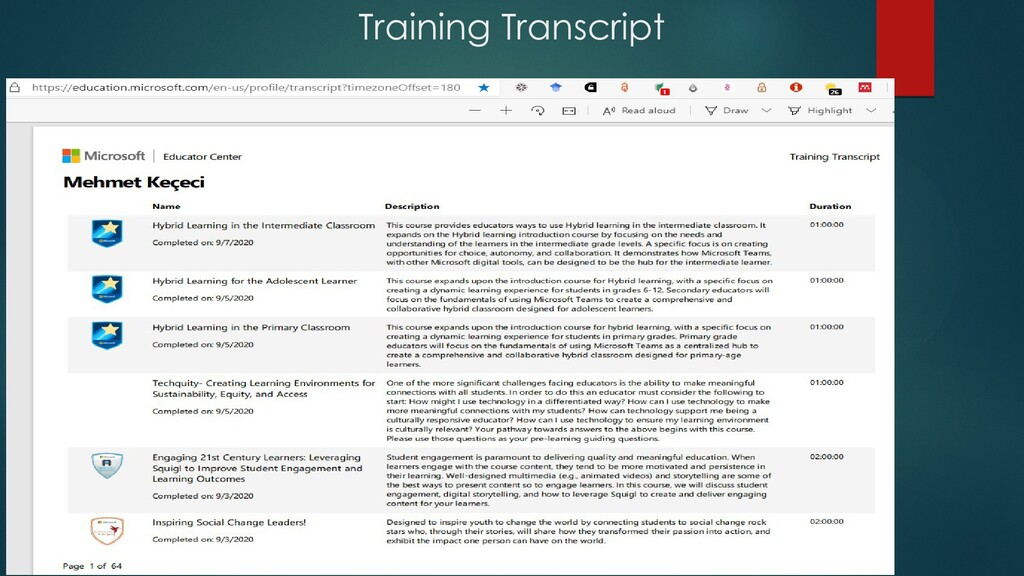 Training Transcript