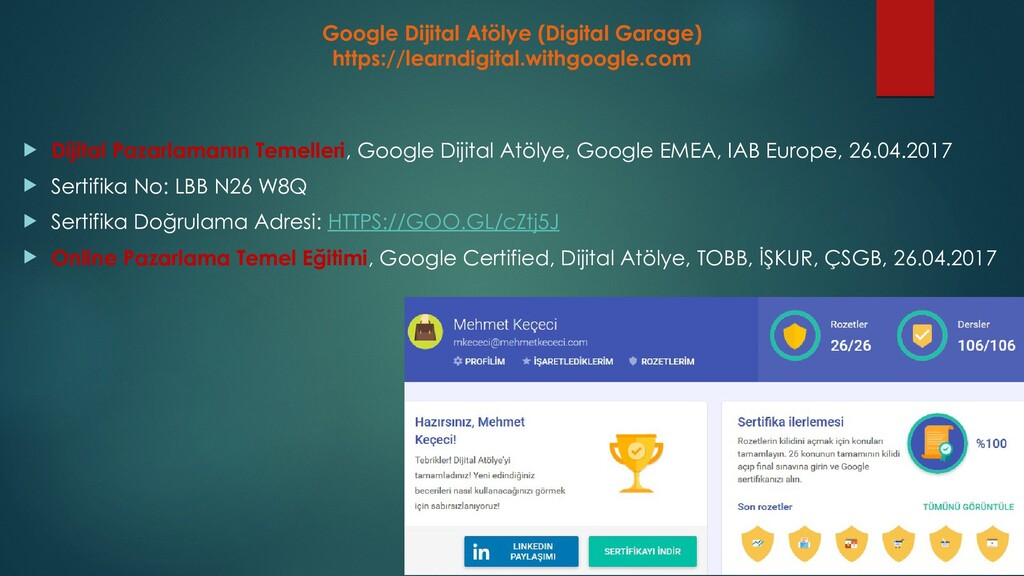 Google Dijital Atölye (Digital Garage) https://...