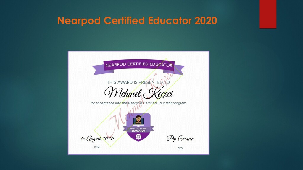 Nearpod Certified Educator 2020