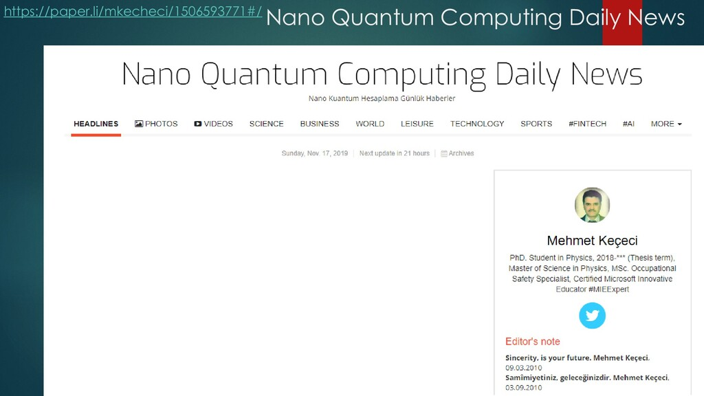 Nano Quantum Computing Daily News https://paper...