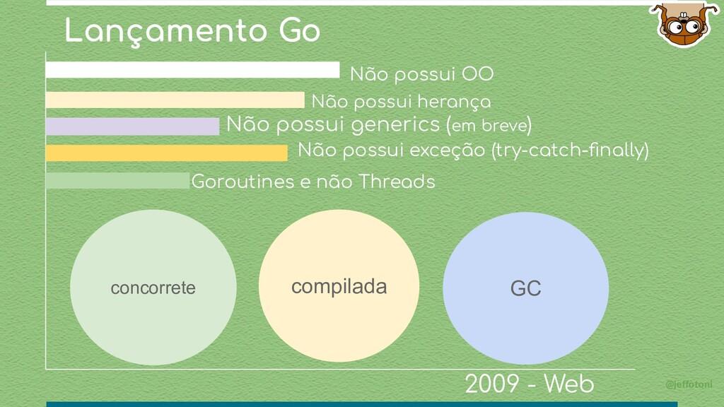 Lançamento Go @jeffotoni Não possui generics (e...