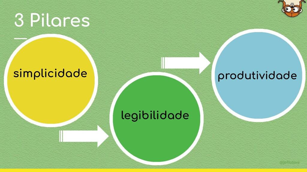 @jeffotoni simplicidade legibilidade produtivid...
