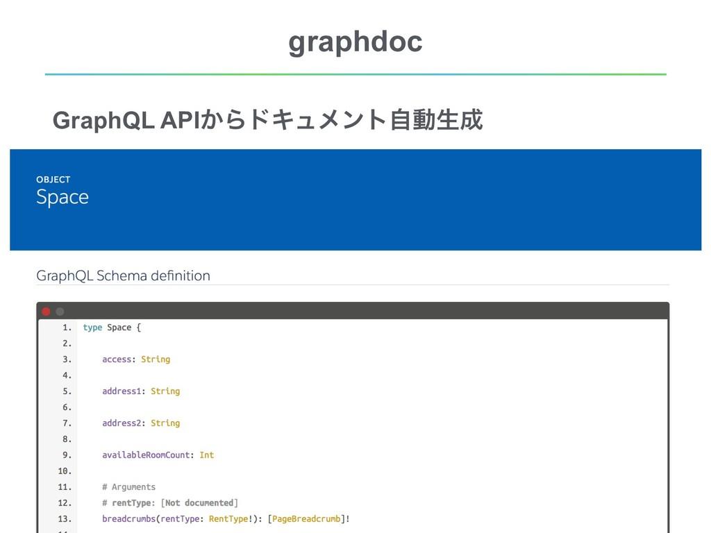 !11 graphdoc GraphQL API͔ΒυΩϡϝϯτࣗಈੜ confidenti...
