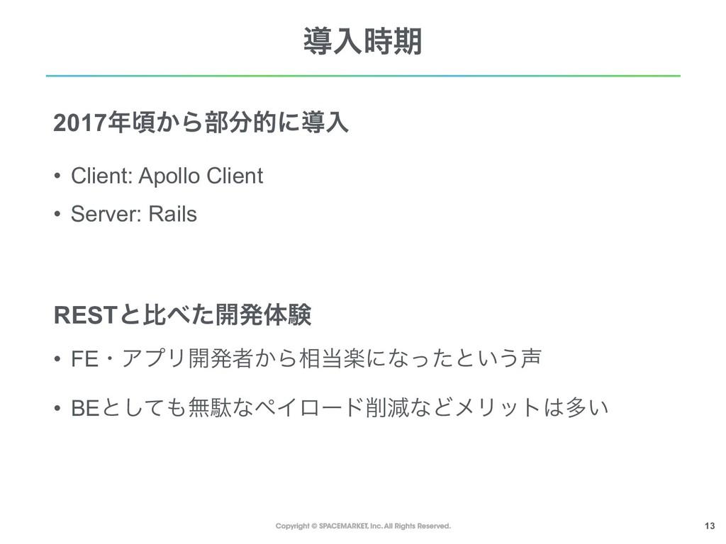 !13 ಋೖظ 2017ࠒ͔Β෦తʹಋೖ • Client: Apollo Client...