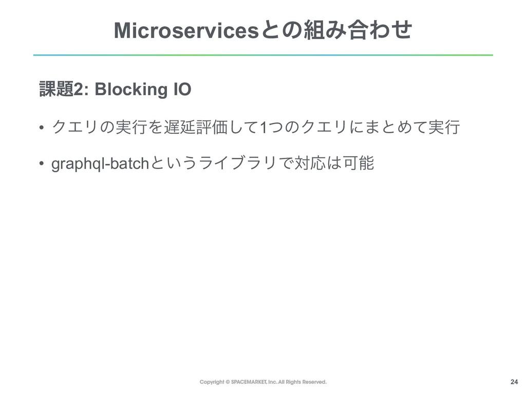 !24 MicroservicesͱͷΈ߹Θͤ ՝2: Blocking IO • ΫΤϦ...