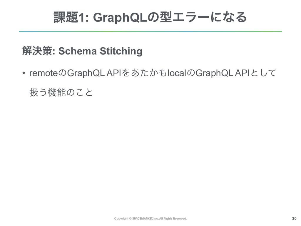 !30 ՝1: GraphQLͷܕΤϥʔʹͳΔ ղܾࡦ: Schema Stitching ...
