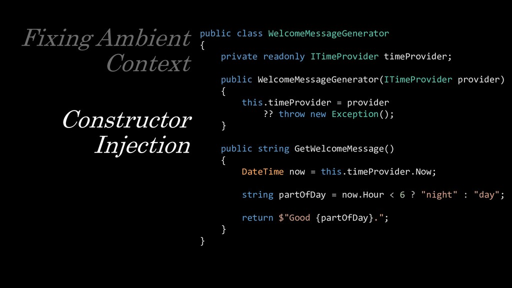 Fixing Ambient Context Constructor Injection pu...