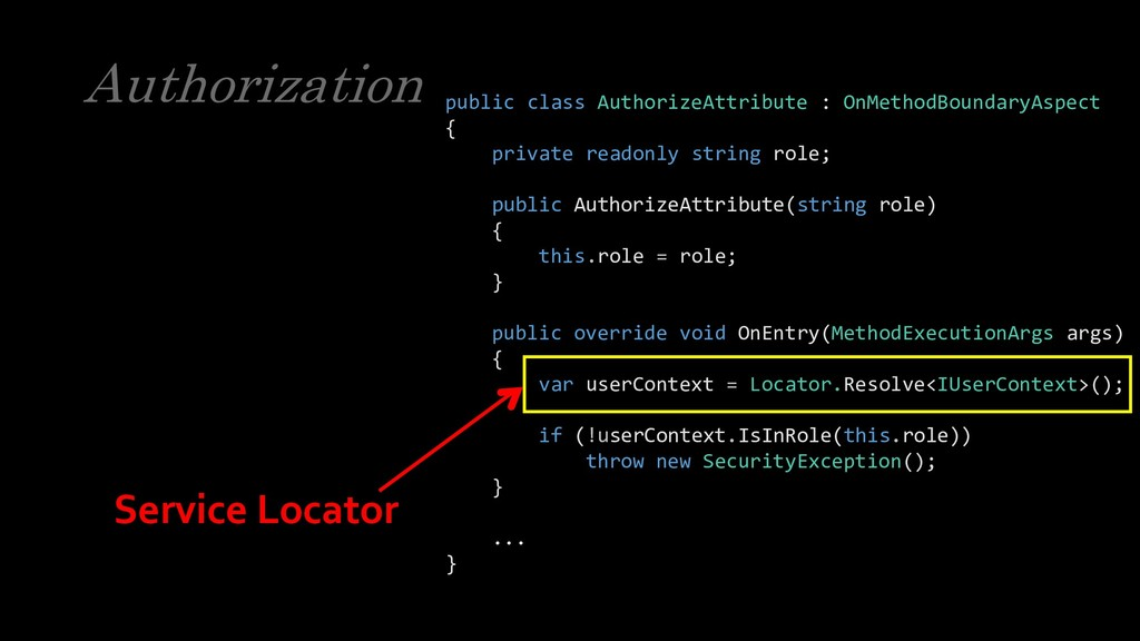 Authorization public class AuthorizeAttribute :...