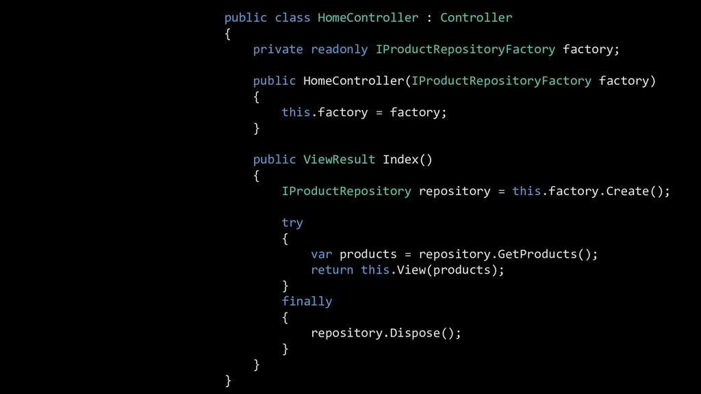public class HomeController : Controller { priv...