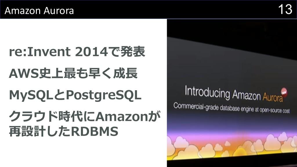 13 Amazon Aurora 0 0 IL S MBR 4 1 0 D A 2 :4 Q P