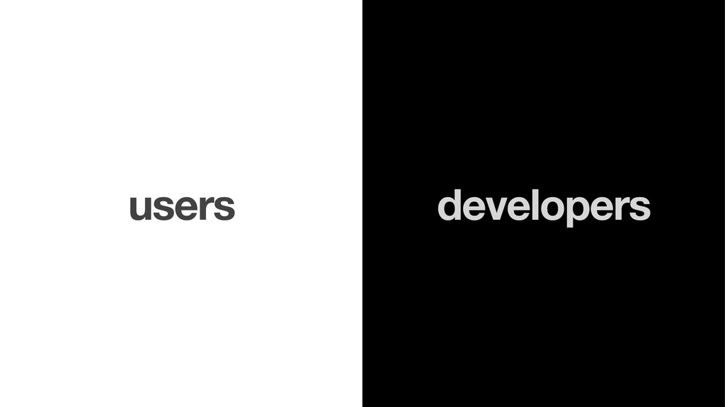 developers users