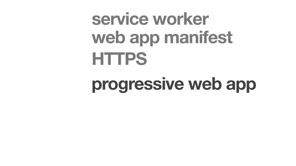 progressive web app HTTPS web app manifest serv...