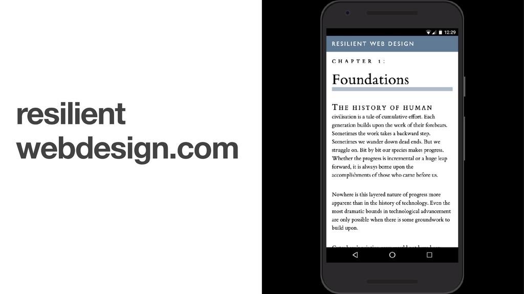 resilient webdesign.com