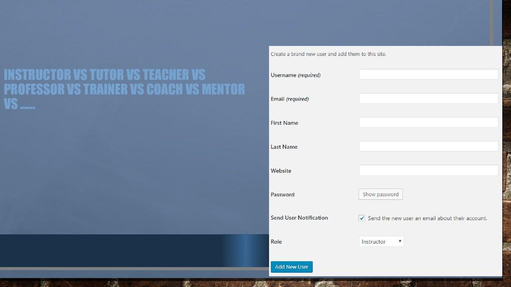 INSTRUCTOR VS TUTOR VS TEACHER VS PROFESSOR VS ...