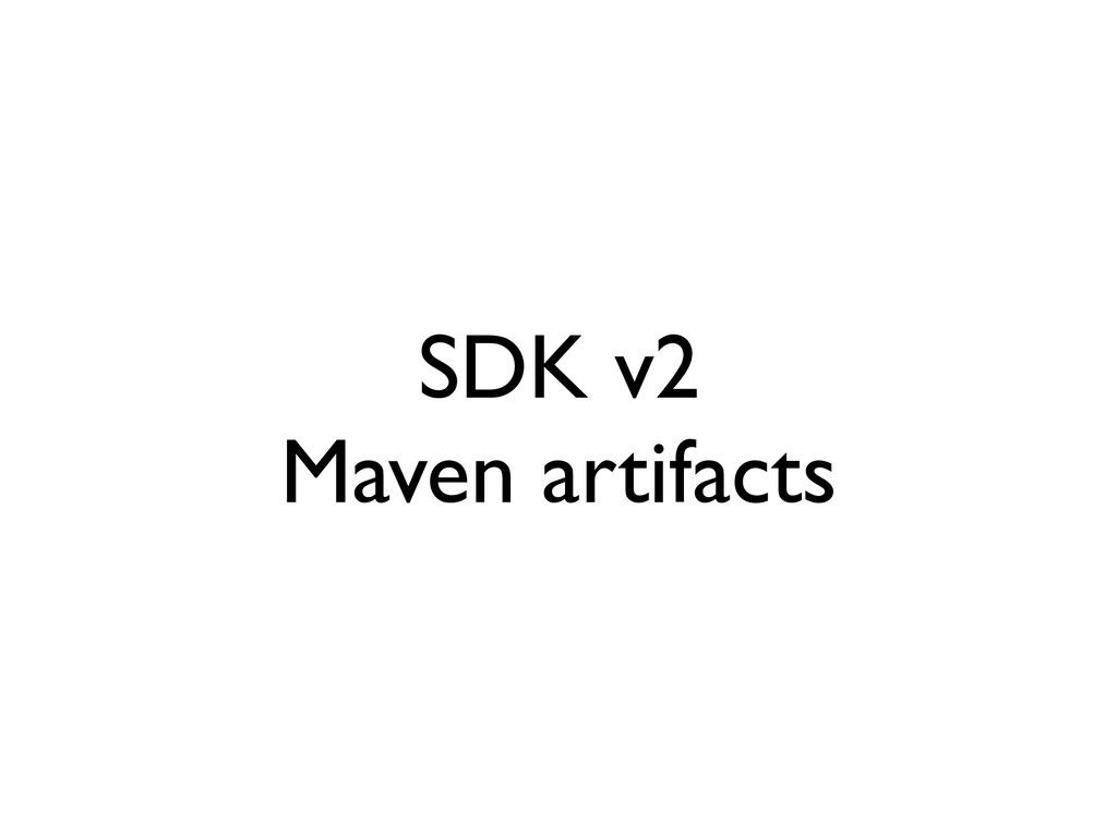 SDK v2 Maven artifacts