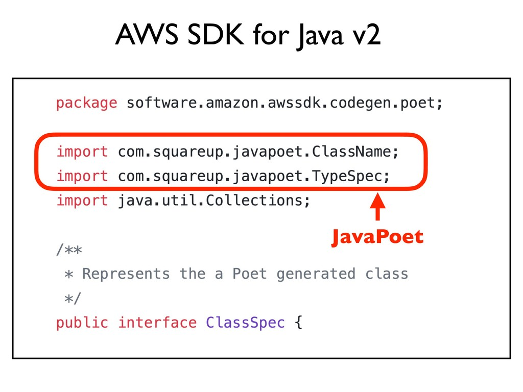 JavaPoet AWS SDK for Java v2