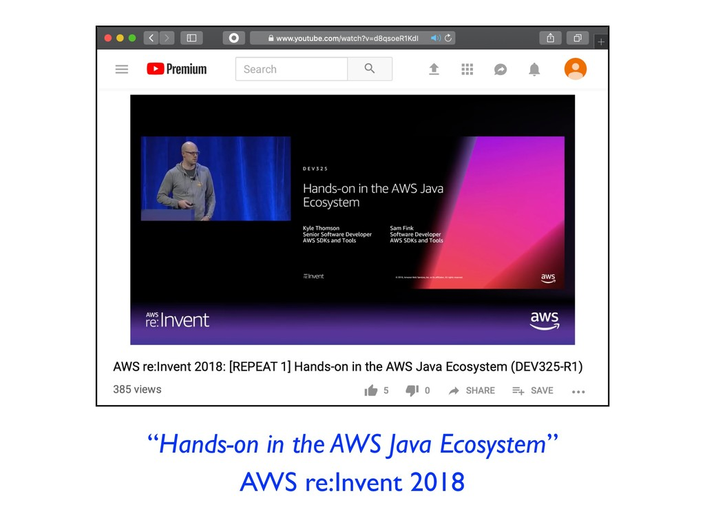 """Hands-on in the AWS Java Ecosystem"" AWS re:Inv..."