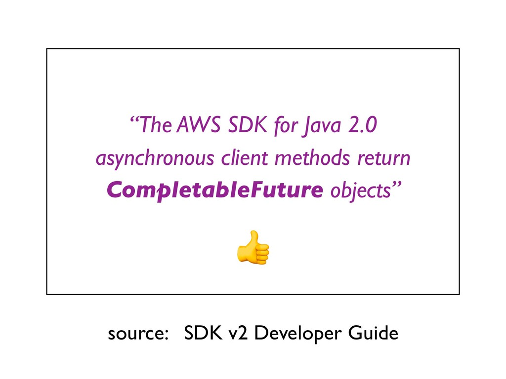 """The AWS SDK for Java 2.0 asynchronous client m..."