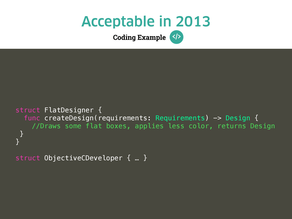 Coding Example Acceptable in 2013 struct FlatDe...
