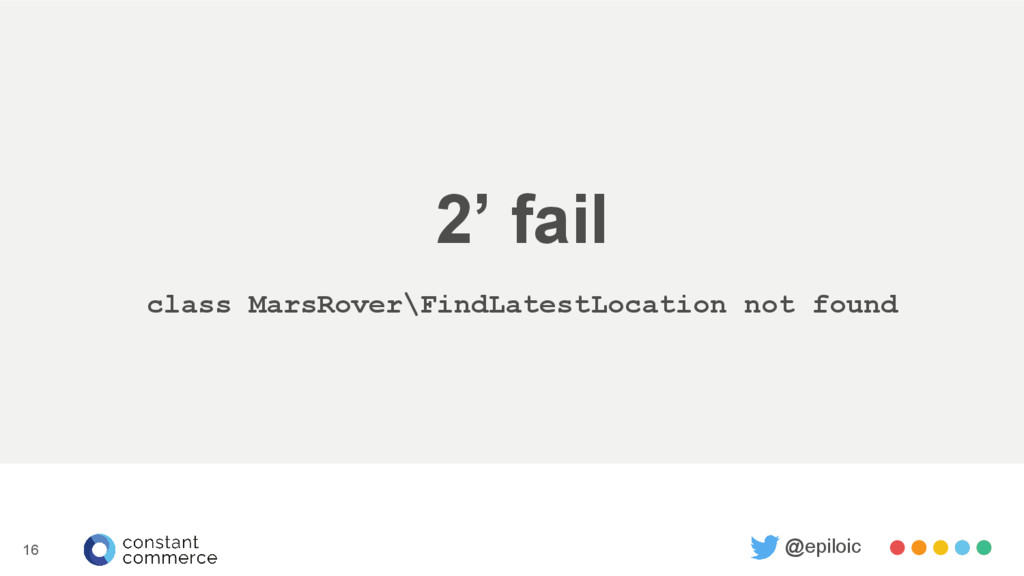 2' fail class MarsRover\FindLatestLocation not ...
