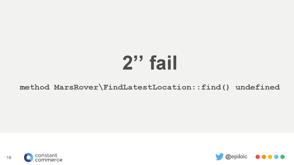 2'' fail method MarsRover\FindLatestLocation::f...