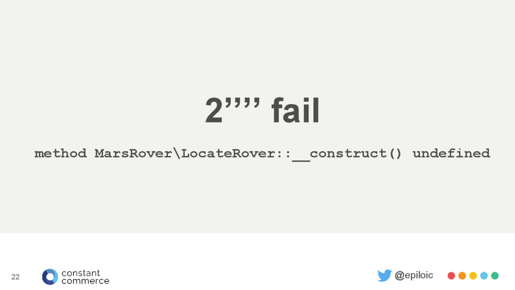 2'''' fail method MarsRover\LocateRover::__cons...