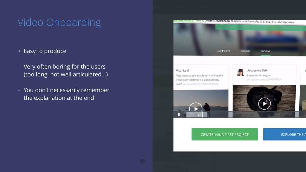Video Onboarding + Easy to produce - Very often...