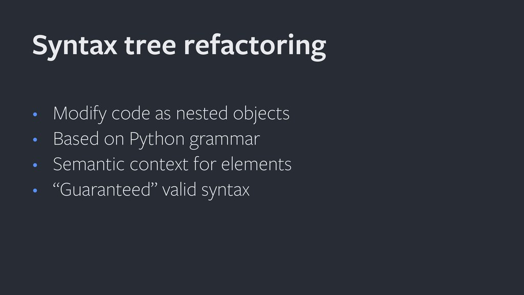 • Modify code as nested objects • Based on Pyth...